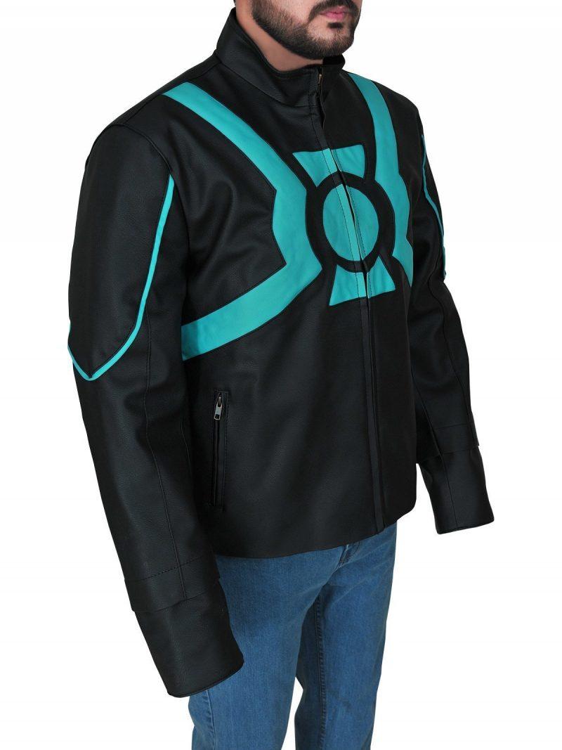 Superhero Green Lantern Leather Jacket