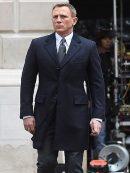 James bond Coat- Navy Spectre Crombie Coat