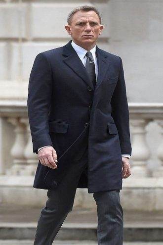 Navy Blue Spectre James Bond Coat