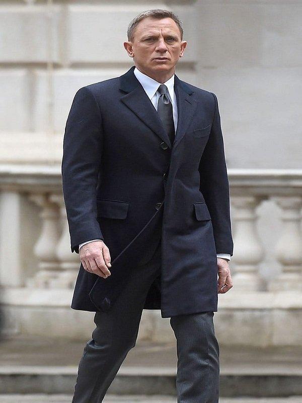 Navy Blue Spectre James Bond Coat