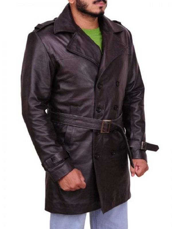 Watchmen Rorschach Leather Trench Coat