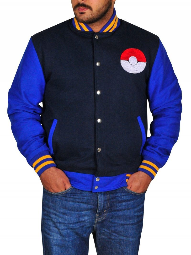 Ash Pokemon Letterman Jacket