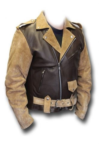 Billy Connolly Route 66 Biker Leather Jacket