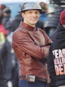 The Flash Jay Garrick Brown Leather Jacket