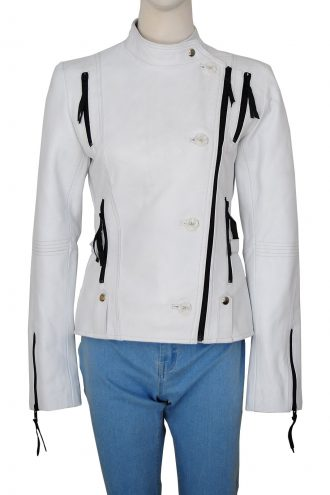 Get Smart Anne Hathaway Agent 99 Stylish White Jacket
