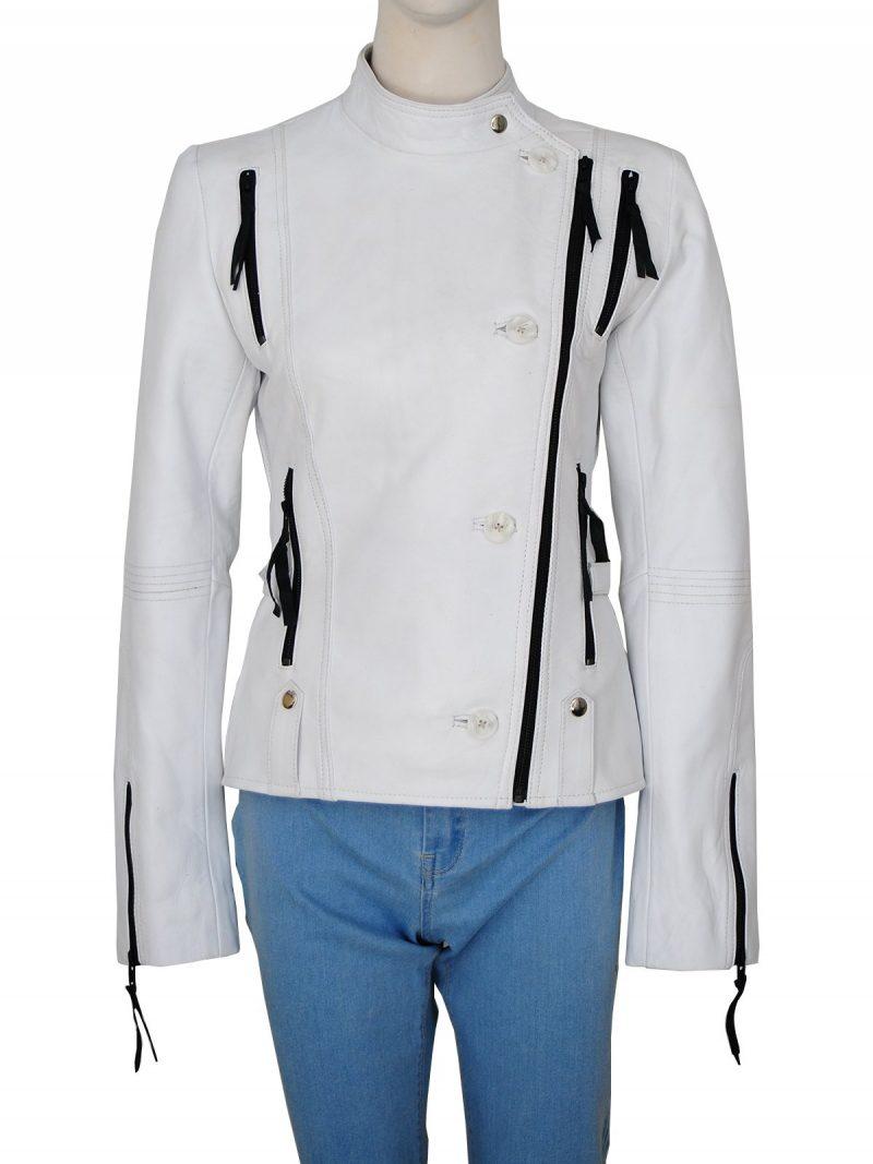 Get Smart Anne Hathaway Agent 99 Stylish White Jacket