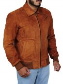 The Man From U.N.C.L.E. Armie Hammer Suede Jacket