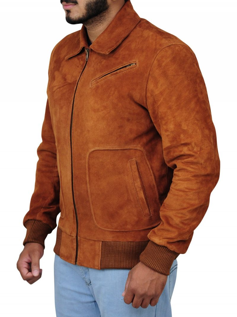 The Man From U.N.C.L.E. Armie Hammer Brown Suede Jacket