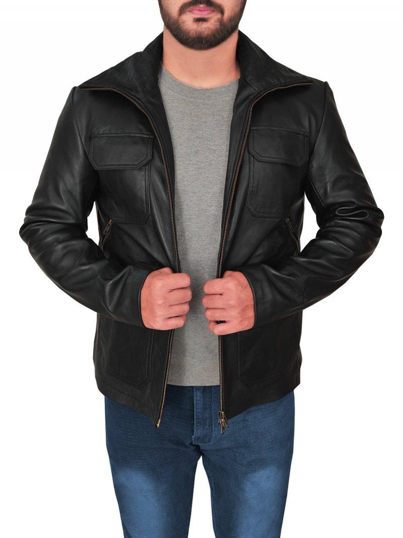 Stylish Breaking Bad Aaron Paul Leather Jacket