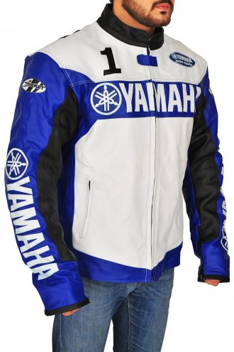 Yamaha Biker Champion Joe Rocket Blue Leather Jacket