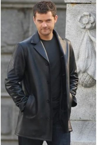Fringe Peter Bishop Black Leather Coat