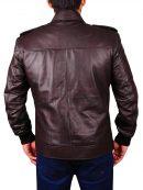Captain America Locomotive Brown Leather Jacket