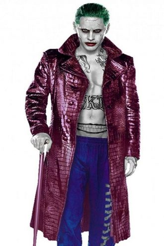 Jared Leto Suicide Squad Joker Trench Coat