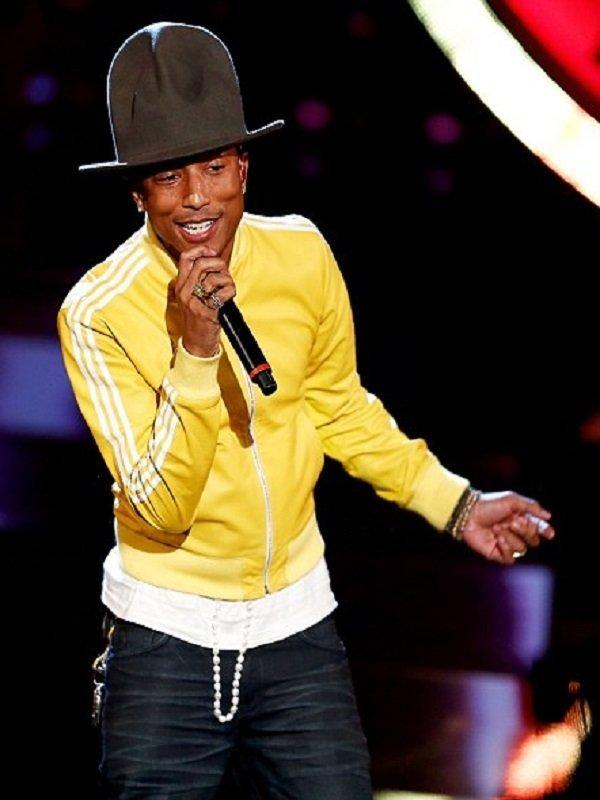 American Rapper Pharrell Williams Stylish Yellow Jacket