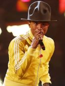 American Rapper Pharrell Williams Stripe Jacket