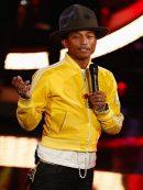 American Rapper Pharrell Williams Yellow Stripe Jacket