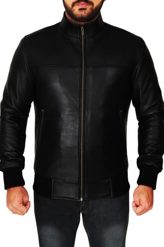 The Vampire Diaries Damon Black Leather Jacket