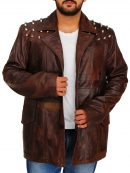 Bray Wyatt Brown Leather Jacket