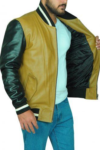 Mens Varsity Leather Jacket