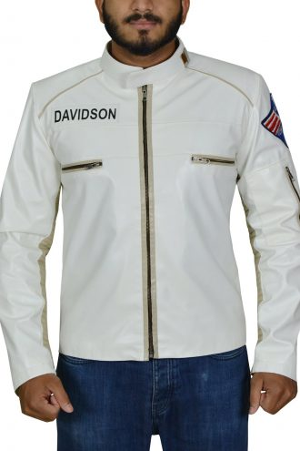 Planet Of The Apes White Leather Jacket