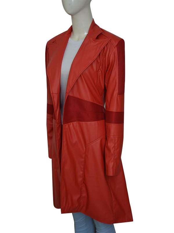 Scarlet Witch Super Heroine Leather Coat