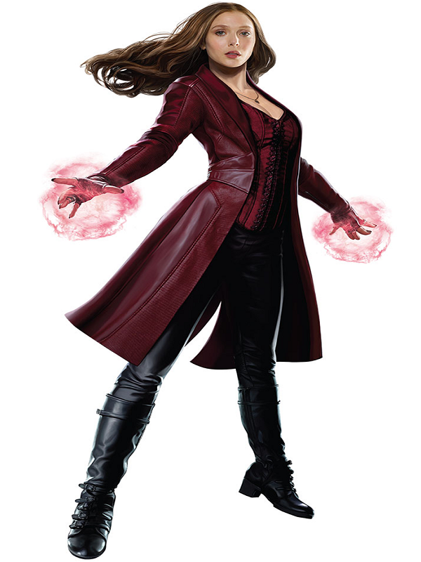 Scarlet Witch Cosplay Leather Coat