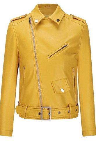 Women's Classic Slim-Fit Biker Jacket