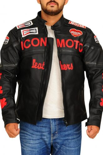 Cherry Darling Planet Terror Men Black leather Jacket