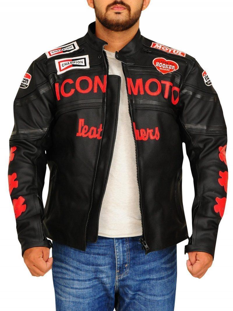 Cherry Darling Planet Terror Men Black leather Jacket
