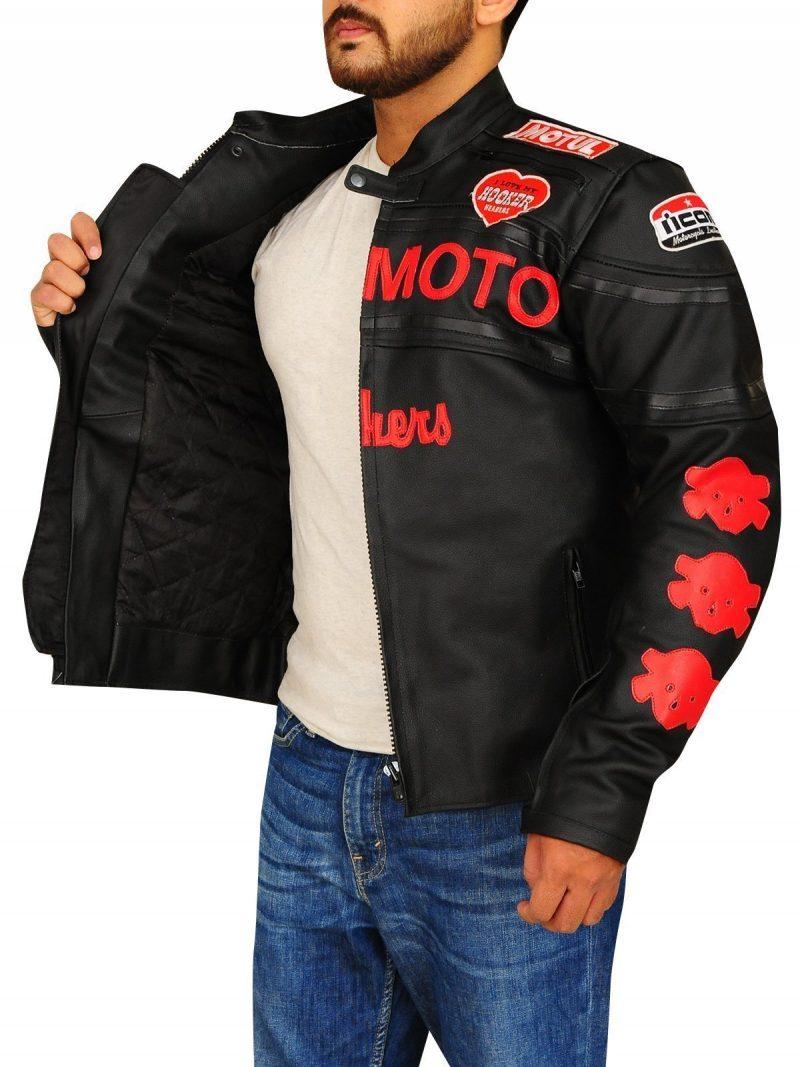 Cherry Darling Planet Terror Men leather Jacket