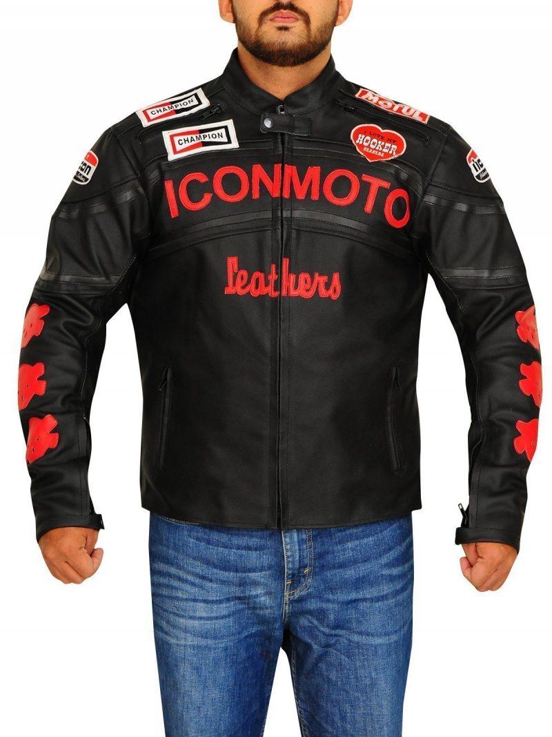 Cherry Darling Planet Terror Men Biker leather Jacket