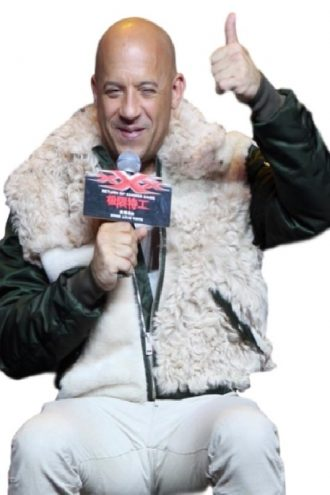 Vin Diesel xXx Premiere Stylish Fur Jacket
