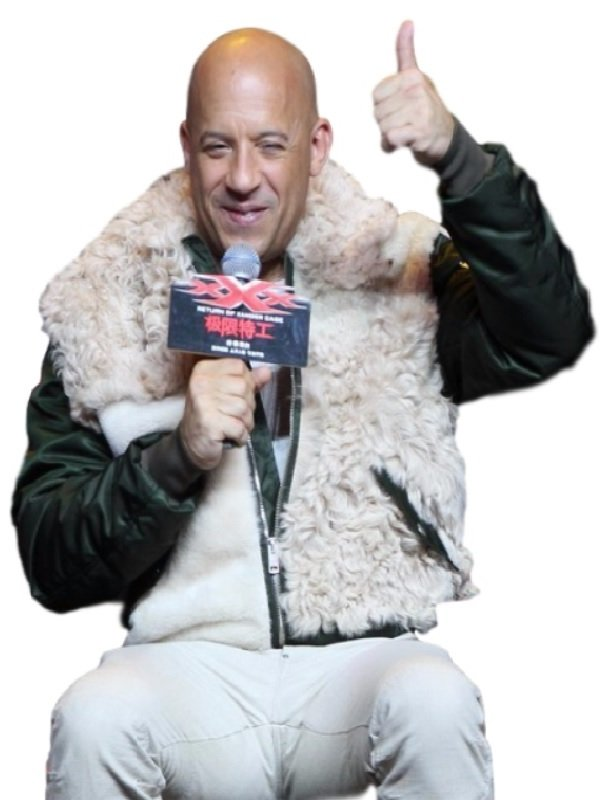 Vin Diesel xXx Premiere Stylish Fur Jacket