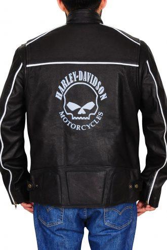 Harley-Davidson Men's Reflective Skull Leather Jacket
