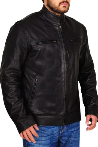 Harley-Davidson Men's Reflective Skull Biker Leather Jacket