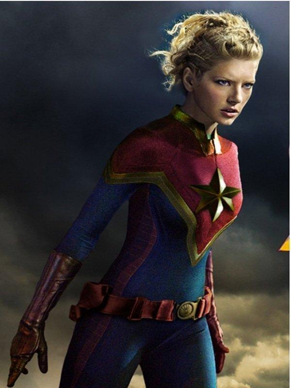 Captain Marvel Carol Danvers Costume Top Celebs Jackets Jumpsuit officially licensed marvel product. captain marvel carol danvers costume