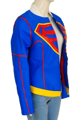 Superheroine Supergirl Cosplay Jacket