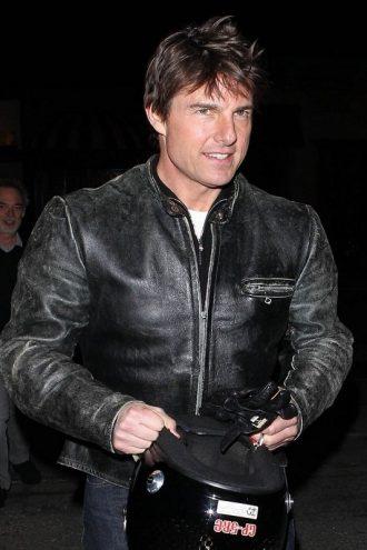 Tom Cruise Distressed Black Jacket