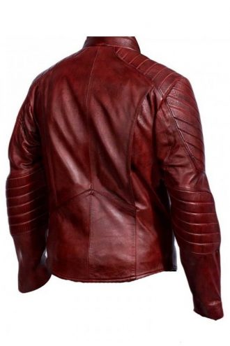 Bat vs Super Maroon Leather Jacket