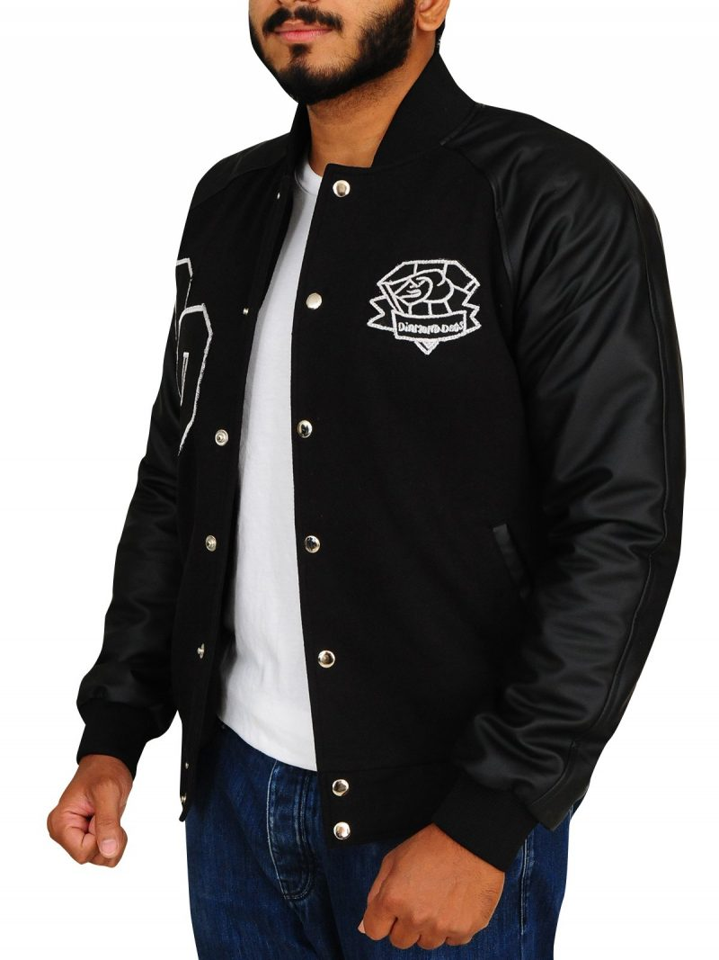 Diamond Dogs Big Boss Letterman Black Jacket