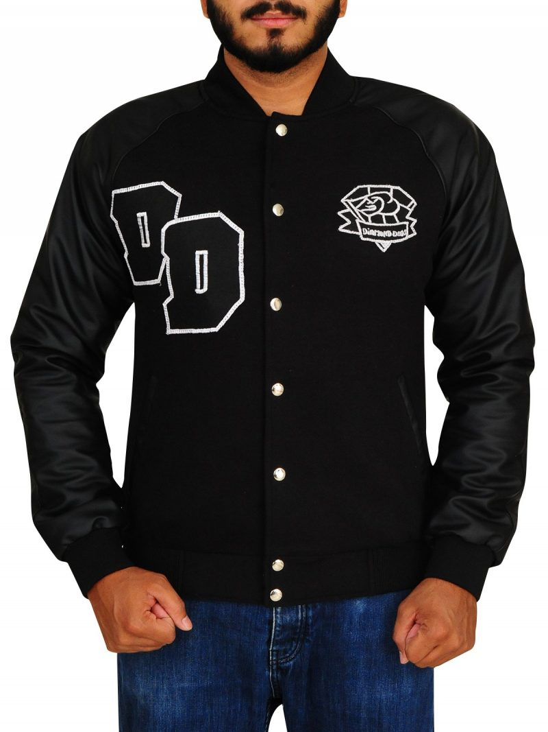 Diamond Dogs Big Boss Varsity Letterman Black Jacket