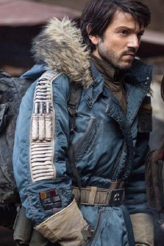 Diego Luna Rogue One Rebel Parka