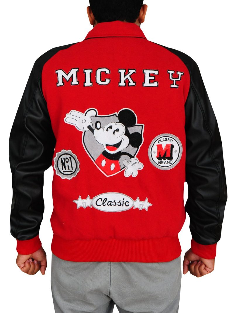 Michael Jackson Mickey Mouse Club Red Varsity Jacket