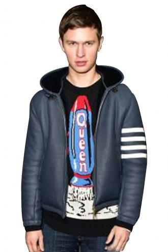 Ansel Elgort Leather Jacket