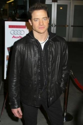 Actor Brendan Fraser Leather Jacket