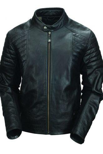 Men Moto Biker Leather Jacket