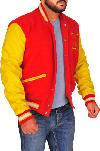M Logo Michael Jackson Varsity Jacket