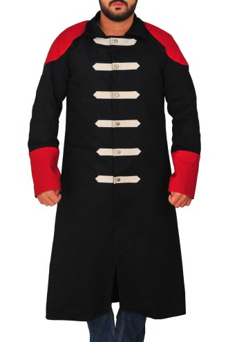 TNA Sting Red and Black Trench Coat