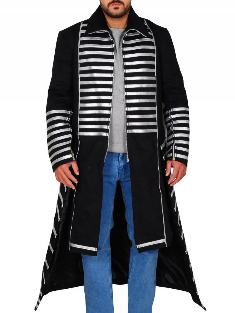 The Miz Stylish Silver Lining Coat