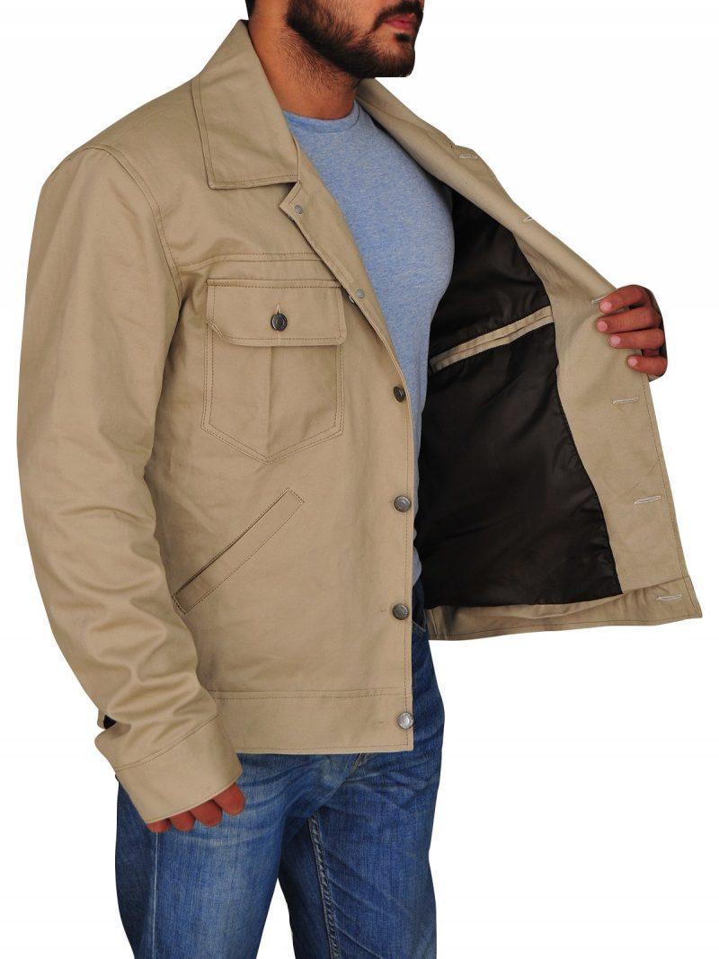 A Star Is Born Bradley Cooper Beige Jacket